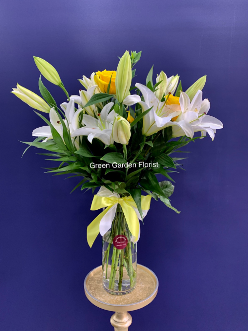 Be Happy Vase Arrangement (19-119)