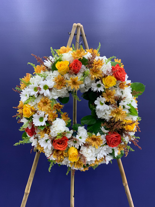 Orange and Yellow Wreath Spray (20-115)