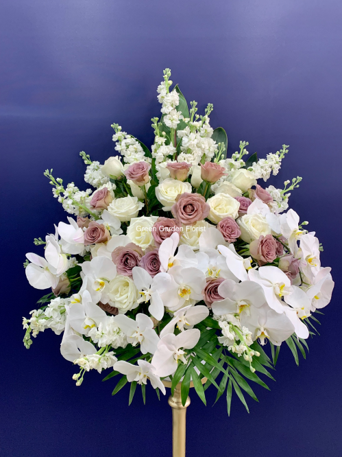 Luxury White and Purple Arrangement (19-138)