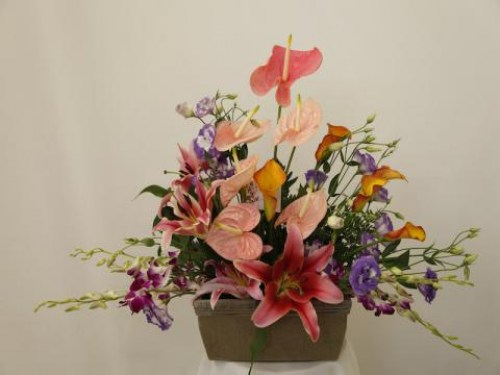 Tropical Garden Basket Arrangement